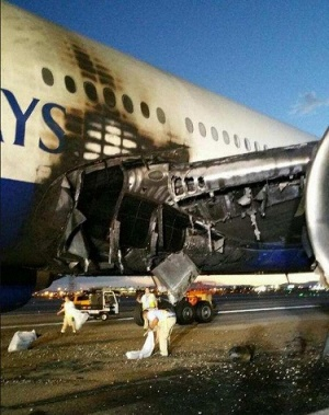 Загорелся Боинг-777