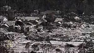 разбомблённый город